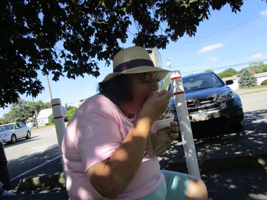 Somerset, MA: That is me eating our ice cream.