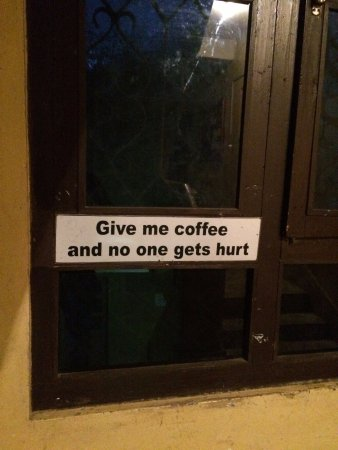 Karma's Coffee : Coffee lovers will find this funny :-)