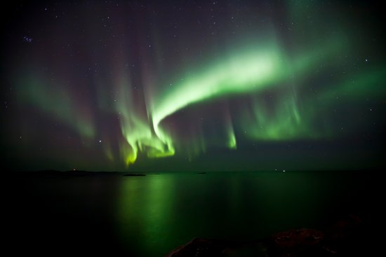Andenes, Noruega: Northern light behind our centre