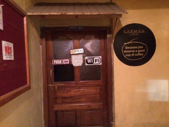 Karma's Coffee : Entrance of Karma's Cafe