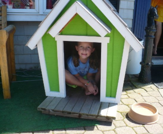 Boothbay Harbor, ME: Doghouse does NOT come with Logan.
