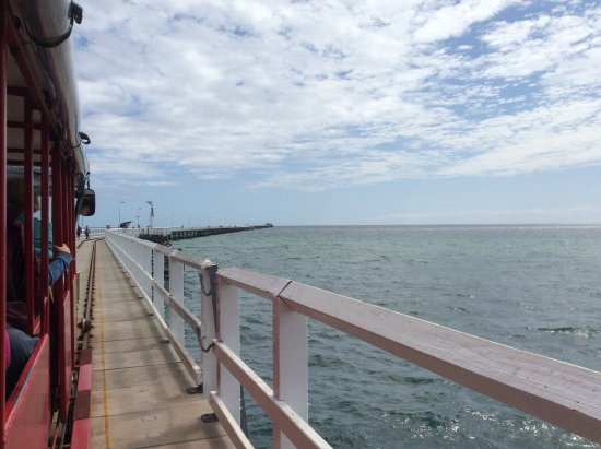 Busselton, Australia: The jetty from the train