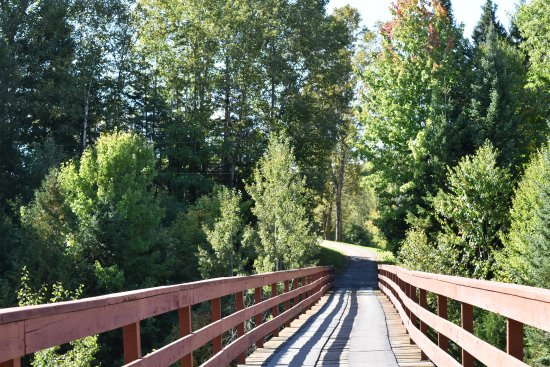 Piedmont, Canadá: Bridge across to the 4th hole - over ravine