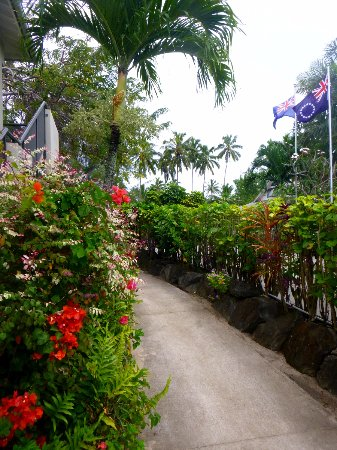 One of the lovely pathways at Sunset Resort