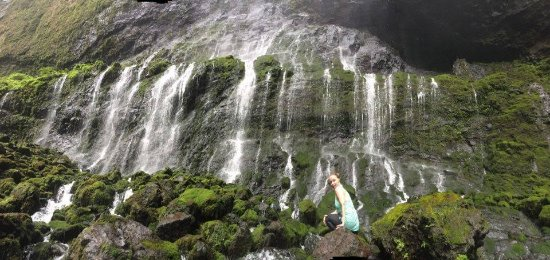 Hike Kauai With Me : A photo that Tab took of me at the Blue Hole of Mt Waialeale
