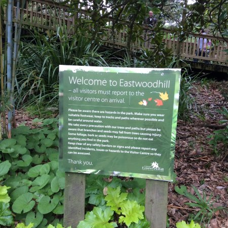 Ngatapa, Neuseeland: Visitor notice at Arboretum entrance