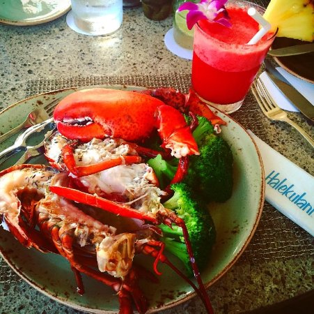 House Without a Key: Lobster and veggies