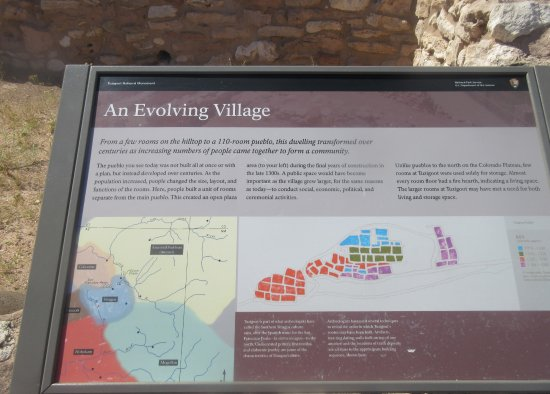 คลาร์คเดล, อาริโซน่า: Good Informational Signs, Tuzigoot National Monument, Cottonwood, AZ