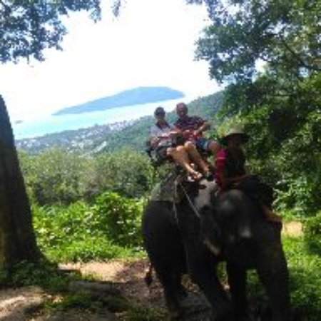 Chalong, Thailand: Elephant Trek - fantastic view from the lookout