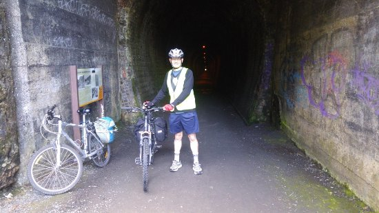 Thames, New Zealand: DAY1 start of the long disused rail tunnel at Waikino in the gorge