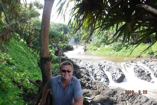 Ohe'o Gulch: The lower fall, easy hike to and from .5 miles