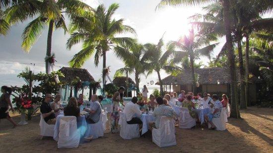 Cape Fatuosofia, Samoa: Our wedding reception at Le Vasa
