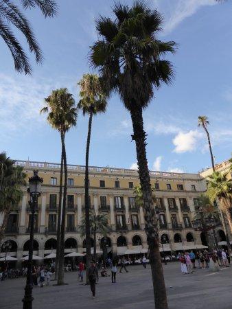 Plaza Real (Plaça Reial): Pretty square