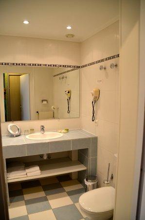 Hotel Grillon: Badkamer