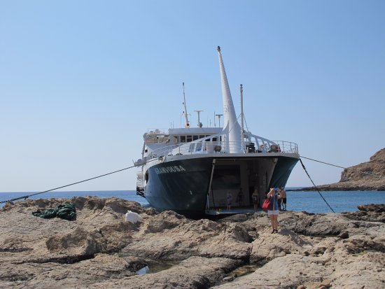 Souda, Grecia: Delivered again to shore at Balos Beach (a short walk over the rocks).