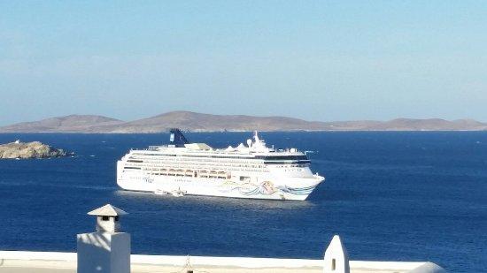 Aegean Hotel: Traumhafter Blick vom Balkon