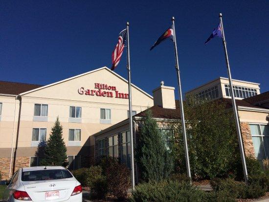 Hotel Exterior Picture Of Hilton Garden Inn Colorado Springs Airport Colorado Springs