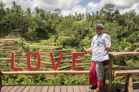 Nusa Dua Peninsula, Indonesia: Rice terraces and our favourite tour guide ever!