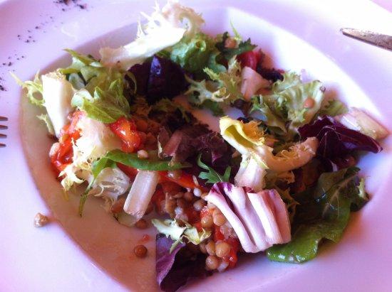 Ensalada de legumbres con vinagreta