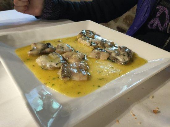 Axpe Achondo, Espanha: kokotxas en el menú diario!!