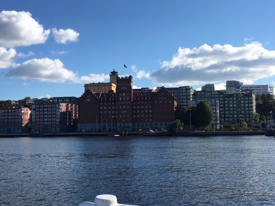 Nacka, Σουηδία: View from the ferry of the hotel
