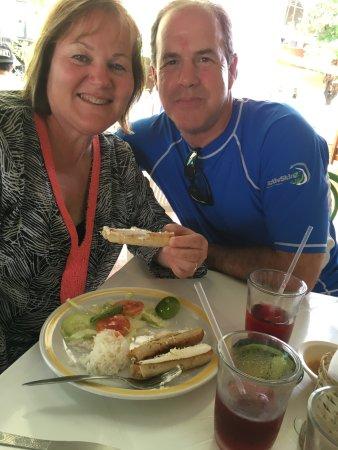 Happy customers at Adriana's COMIDA CASERA