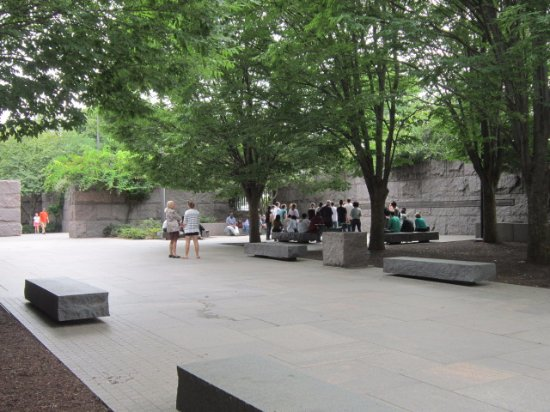 Franklin Delano Roosevelt Memorial: parte do memorial
