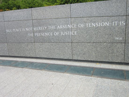 Martin Luther King, Jr. Memorial: citação