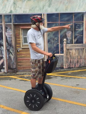 Glide N.E.W. LLC - Segway the Door Tours: Our guide, Leif. From Door county, well versed in the history and the current events.