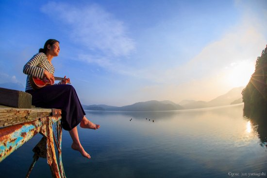 Shinano-machi, Jepang: 野尻湖の朝は最高です!