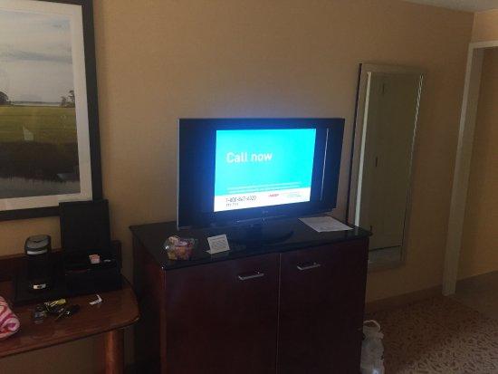 Marriott Chesapeake: Big bed.  Decent tv