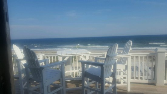 Surf City, Karolina Północna: View of ocean from the deck of our house