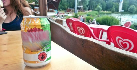 Park Nautic Verberie: Une bonne biére tranquillou en fin de soirée... :-)