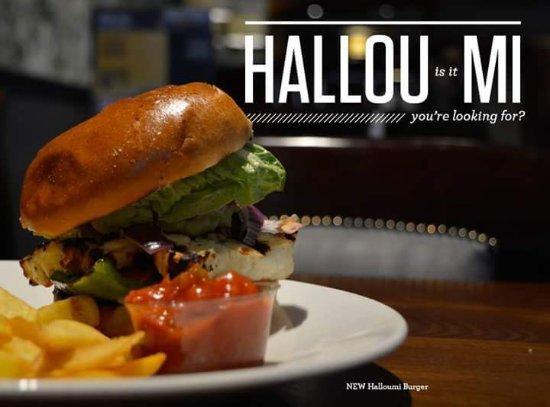 Retford, UK: Halloumi burger