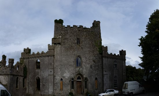 Roscrea, Irland: Outside of the castle but first you have to figure out how to get past the gate