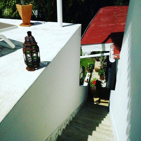Petit-Bourg, Guadeloupe: La petite terrasse bien agréable en fin de journée