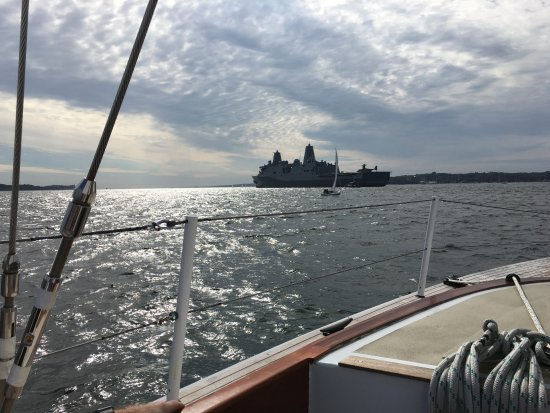 Sailing Excursions Adirondack II: View of a stealth ship