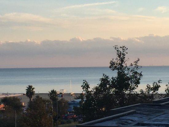 L'Hotel Rimini : Vista dalla camera superior (IV piano)