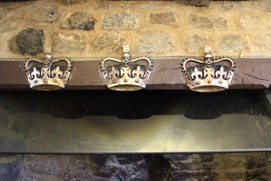 Chagford, UK: Bar fireplace