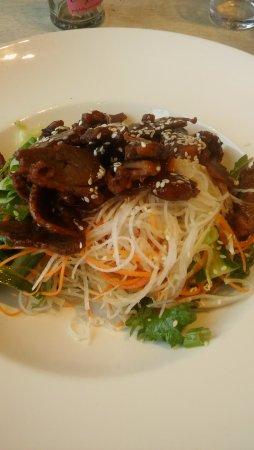 Surbiton, UK: Crispy duck salad, delicious