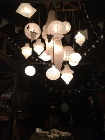 Austinburg, OH: paper lantern lighting