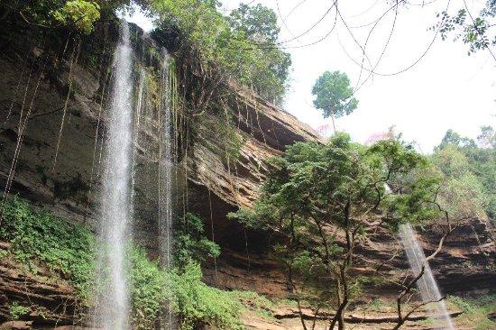 Eastern Region, Ghana: View looking up at Boti Falls