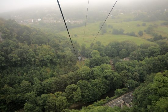 Matlock Bath, UK: view from the cable car