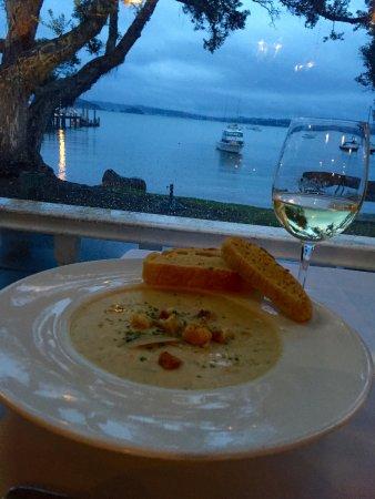 รัสเซลล์, นิวซีแลนด์: clam chowder