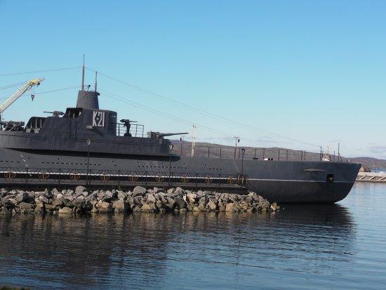 Severomorsk, Russland: Краснознаменная подводная лодка К-21
