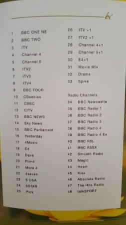 TV channel listings  - Picture of Hilton Garden Inn