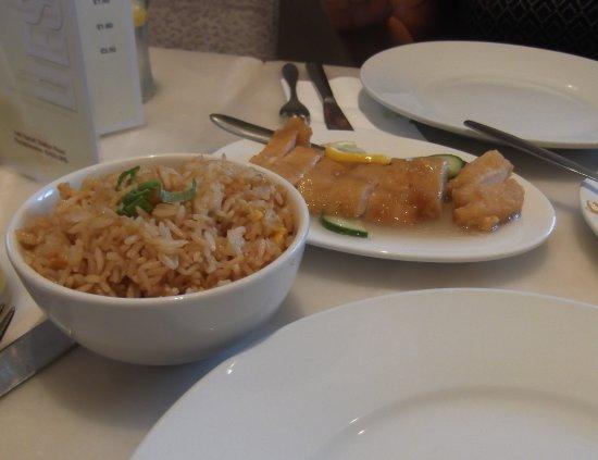 Livingston, UK: Lemon chicken and fried rice