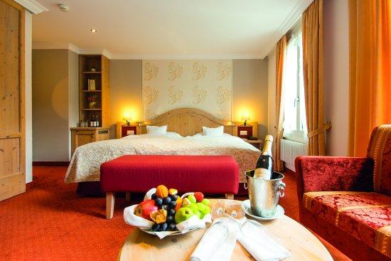 Romantik Hotel Schweizerhof Grindelwald : Superior Twin mit Eigerblickim Schweizerhof Hauptgebäude