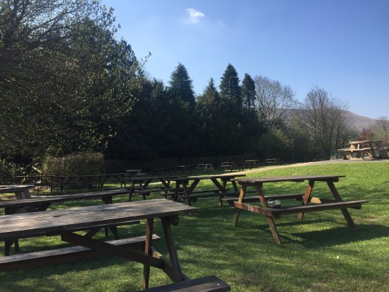 Edale, UK: Beer garden