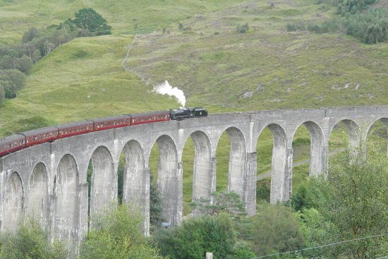 Glenfinnan, UK: Train des Jacobites